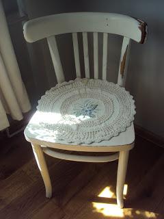 Shabby chic w pełnej krasie!:) czyli babcine krzesło