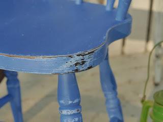 Szafirowe krzesło